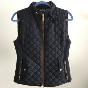 Zara Quilted Waistcoat With Piping Vest XS New